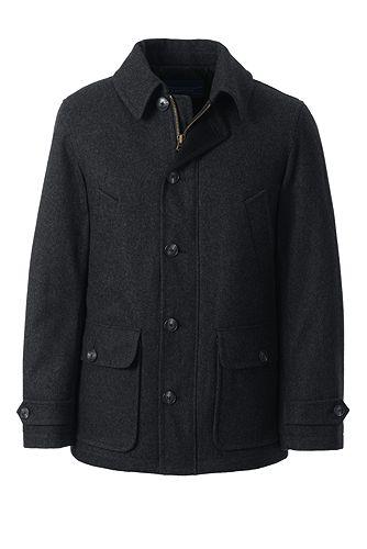 Wool Car Coat 490793: Dark Charcoal Heather
