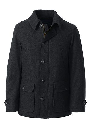 Wool Car Coat 490793: Dark Charcoal Heather