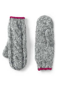 Girls Chunky Cable Mittens