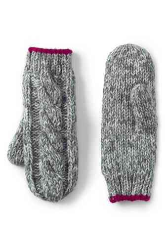 Girls' Chunky Cable Mittens