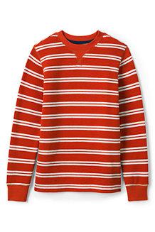 Le T-Shirt Gaufré Rayé à Manches Longues, Garçon
