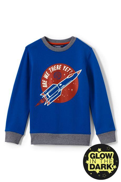 Boys Graphic Crewneck Sweatshirt