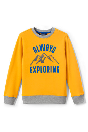 04f6ee6667f5 Boys Graphic Crewneck Sweatshirt from Lands  End