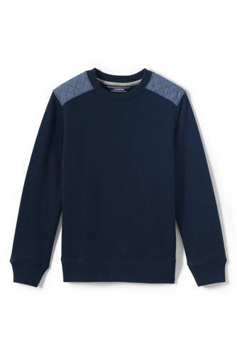 Toddler Boys' Chambray Trim Sweatshirt