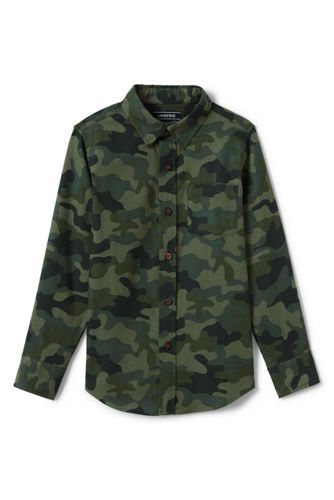 Little Boys' Camouflage Flannel Shirt