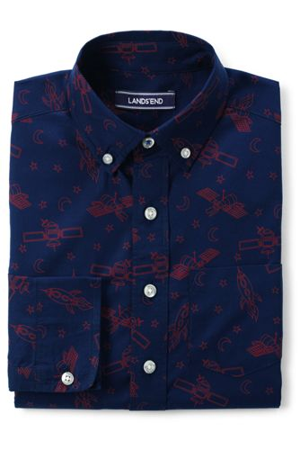 Little Boys' Print Poplin Shirt