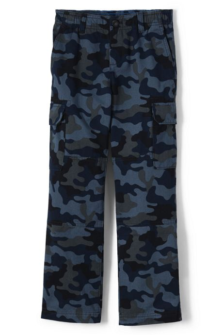Boys Iron Knee Camo Pull On Cargo Pants