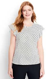 Women's Plus Size Flounce Sleeve Top