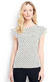 Women's Petite Flounce Sleeve Top