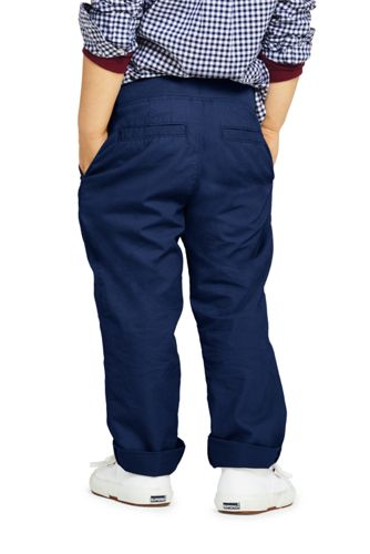 Boys Slim Iron Knee Pull On Pants