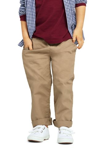 Little Boys Slim Iron Knee Pull On Pants