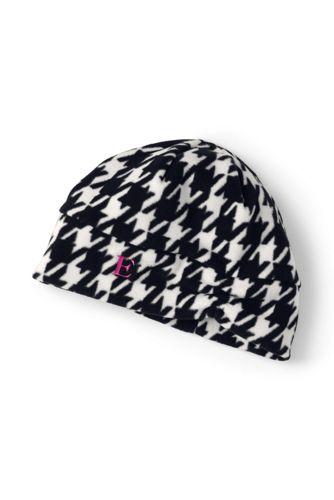 Women's Fleece Ruched Patterned Hat