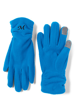 c6eb2601c877b Women's Ruched Fleece Touchscreen Gloves   Lands' End