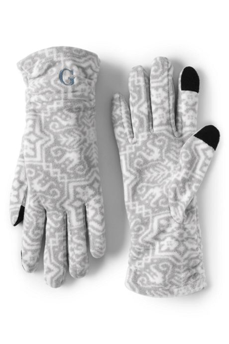 Women's Fleece Print EZ Touch Texting Gloves