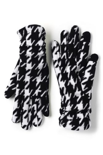 Women's Fleece Ruched Patterned EZ Touch Gloves