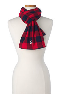 Women's Fleece Patterned Scarf