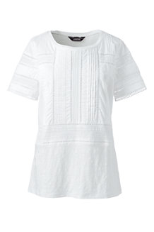Women's Linen and Lace Top