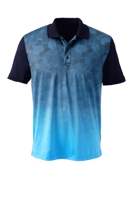 Men's Short Sleeve Tailored Print Front Polo Shirt