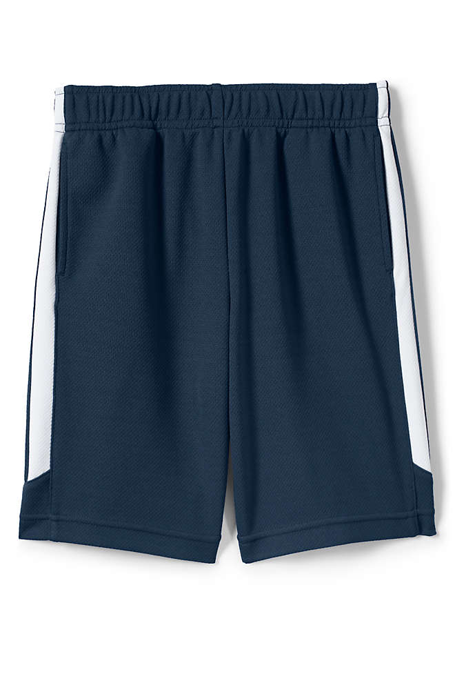 Boys Mesh Athletic Gym Shorts, Front