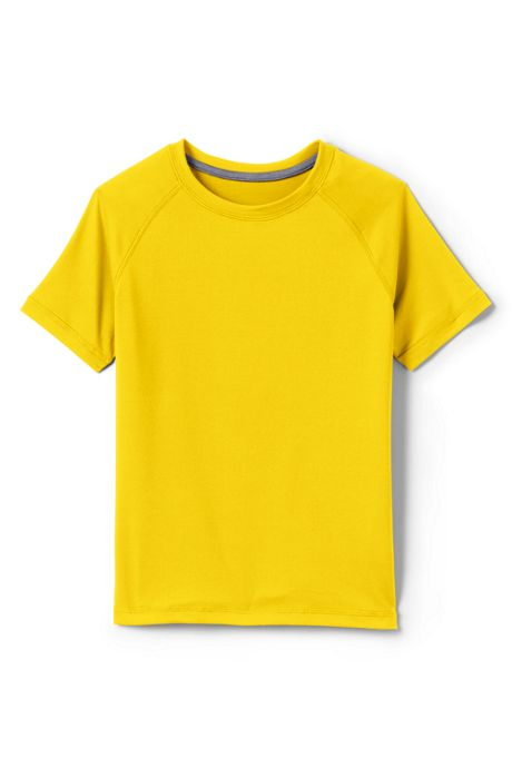 School Uniform Little Boys Short Sleeve Active Gym T-shirt