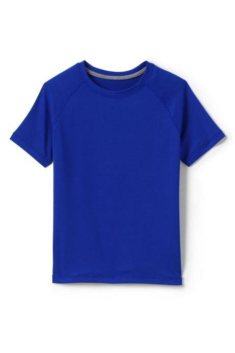 School Uniform Little Boys Short Sleeve Active Tee