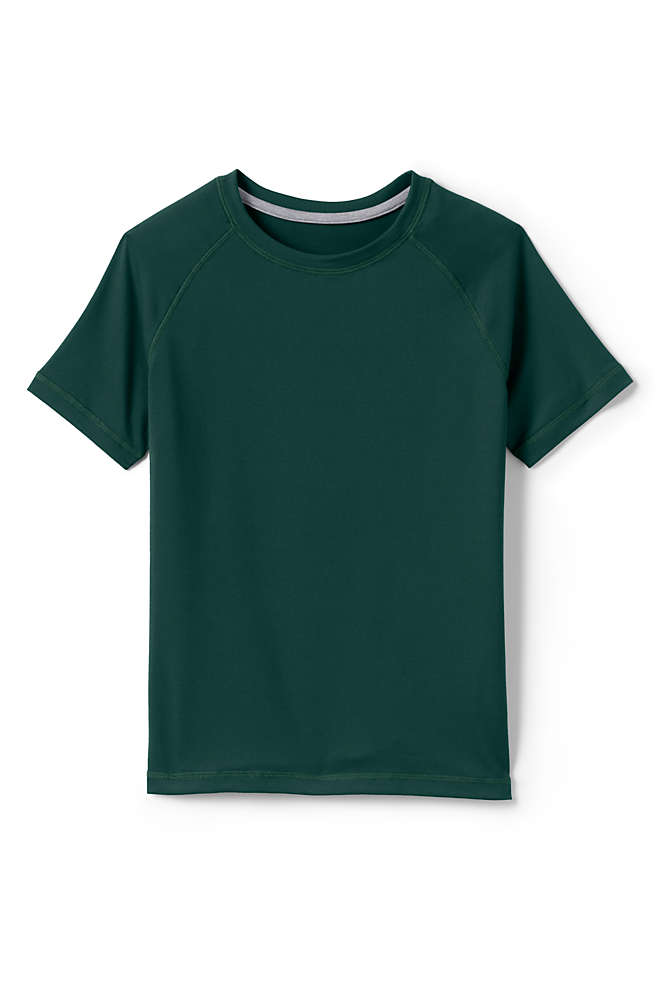 School Uniform Little Boys Short Sleeve Active Gym T-shirt, Front