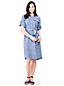 La Robe Chemise Rayée en Lin, Femme Stature Standard