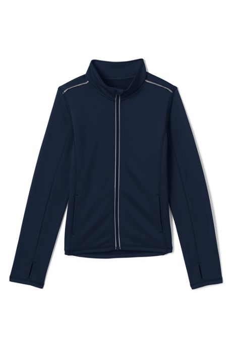 School Uniform Little Girls Active Track Jacket