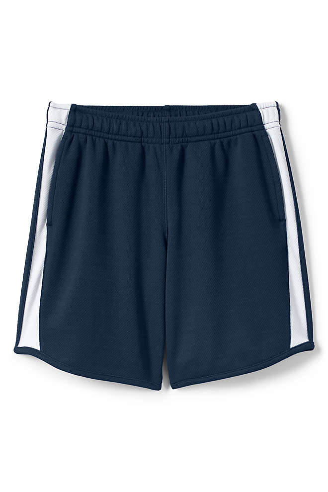 Girls Mesh Athletic Gym Shorts, Front