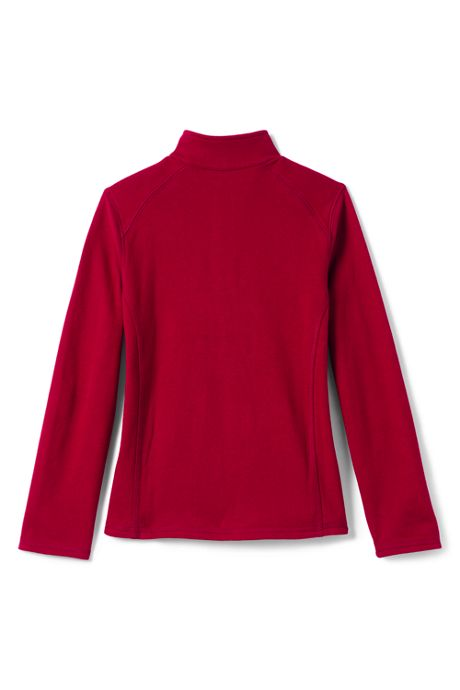 School Uniform Little Girls French Terry Half Zip Pullover