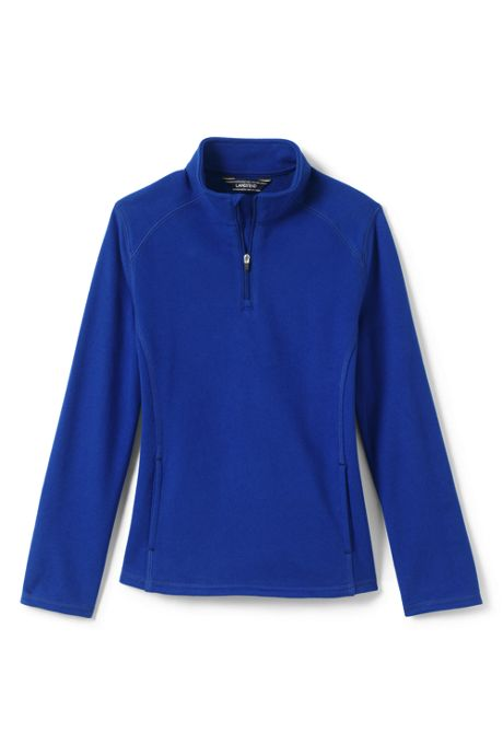 School Uniform Little Girls French Terry Half Zip Pullover