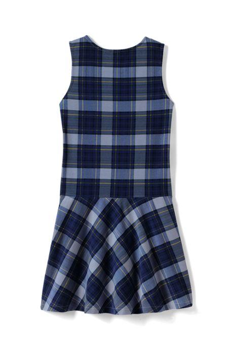 School Uniform Girls Knit Plaid Jumper