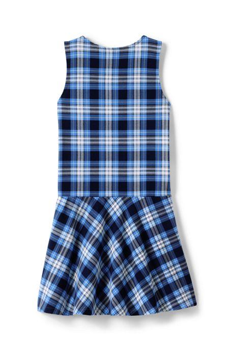 School Uniform Little Girls Knit Plaid Jumper