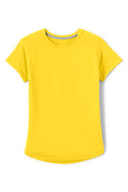 School Uniform Little Girls Short Sleeve Active Gym T-shirt