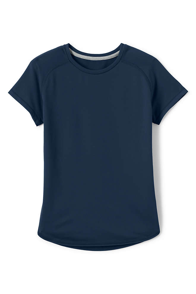 Little Girls Short Sleeve Active Gym T-shirt, Front