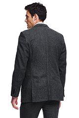 Herringbone Wool Sportcoat 486542: Grey
