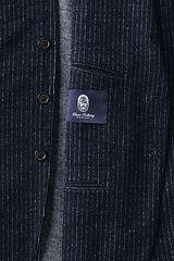 Blended Wool Jersey Sportcoat 486544: Navy Pinstripe