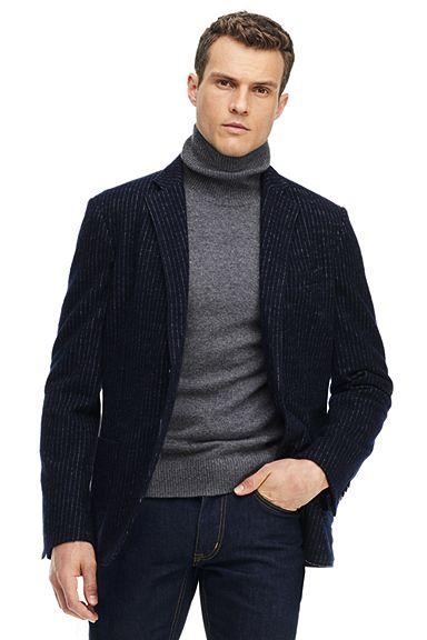 Blended Wool Jersey Sportcoat 486544