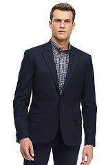 Stretch Tweed Sportcoat 486545: Navy
