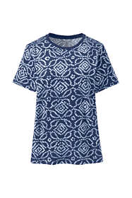 Women's Plus Size Relaxed Supima Cotton Short Sleeve Crewneck T-Shirt Print