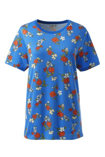 T-Shirt Imprimé à Manches Courtes, Femme Stature Standard