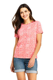 Women's Relaxed Supima Cotton Short Sleeve Crewneck T-Shirt Print