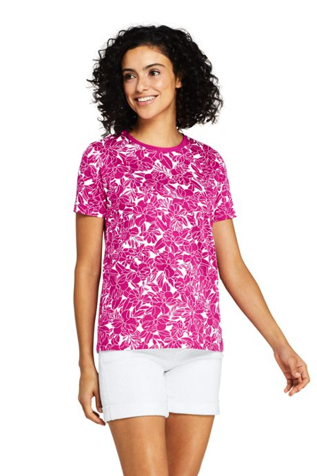 Women's Relaxed Fit Supima Cotton Crewneck Short Sleeve T-shirt - Print