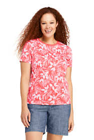 Women's Petite Plus Relaxed Supima Crew Neck T-Shirt