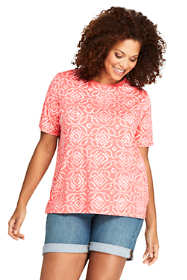Women's Plus Size Relaxed Supima Crew Neck T-Shirt