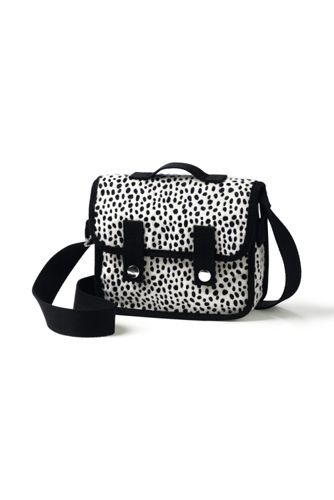 Girls' Dalmation Dot Print Cross Body Satchel