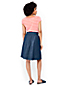 Women's Indigo Pull-on A-Line Skirt