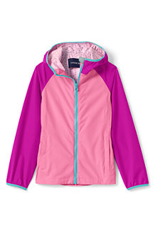 Girls' Waterproof Breakwater Rain Jacket