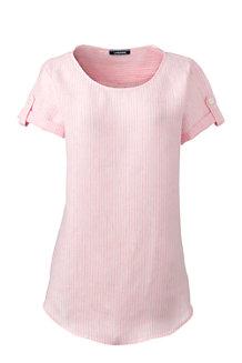 Le T-Shirt en Lin à Motifs, Femme