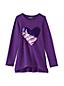 Le Sweatshirt Long à Graphiques et Manches Longues, Petite Fille